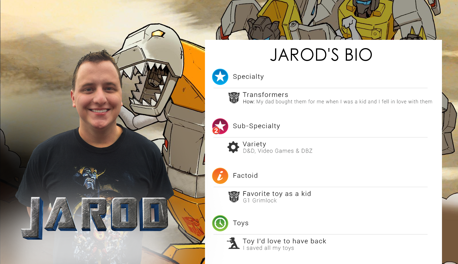 Jarod's Bio