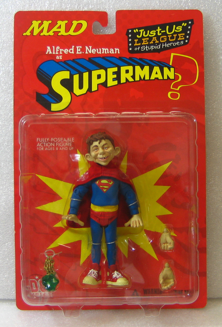 dc direct alfred e neuman as superman