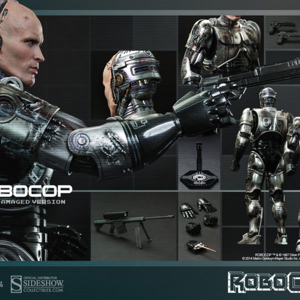 hot toys robocop battle damaged version
