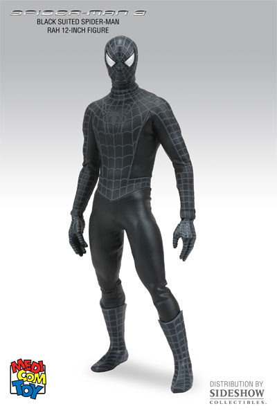 ... medicom spider-man 3 black suit version  sc 1 st  The Toys Time Forgot & Medicom RAH Spider-Man 3 (Black Suit Version) 1:6 Scale Figure u2013 The ...