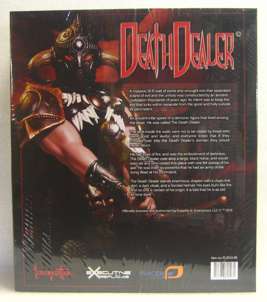frazetta death dealer figure box back