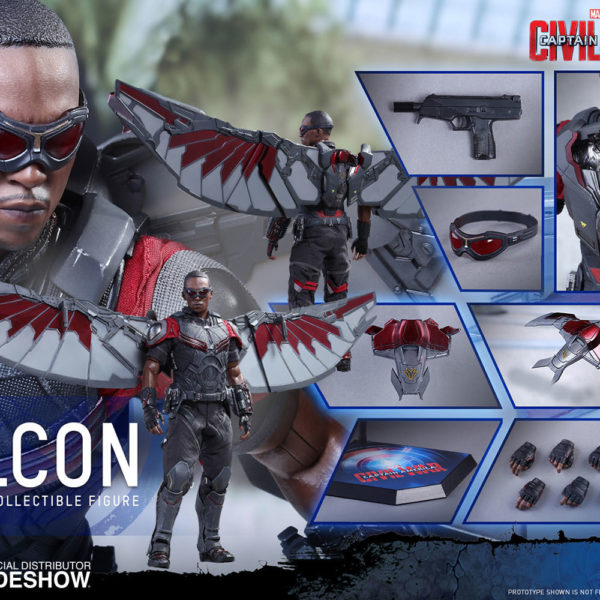 hot toys captain america civil war falcon figure