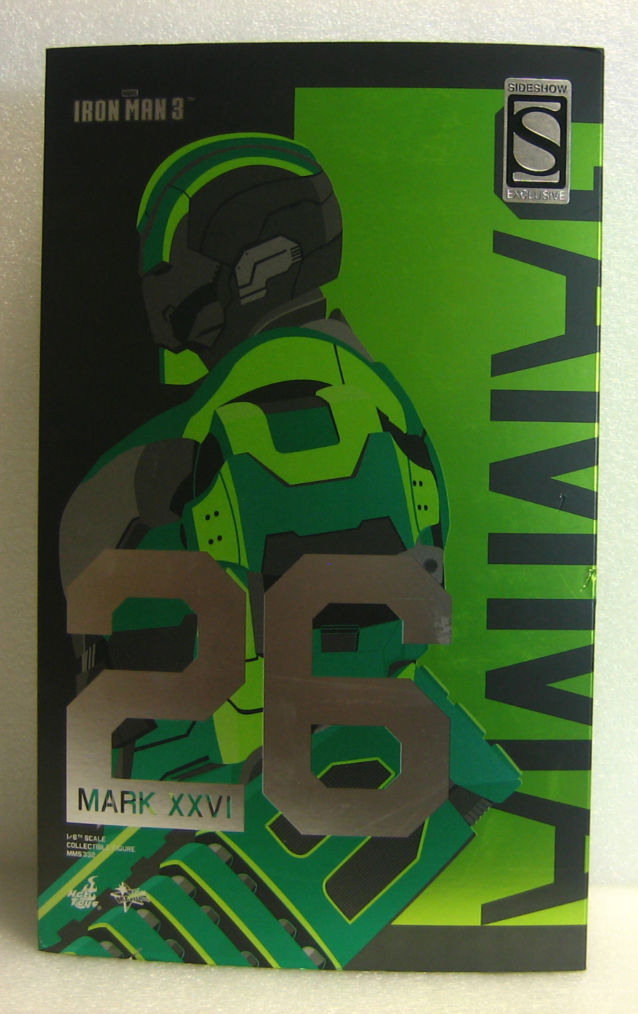 hot toys iron man mark xxvi gamma box front