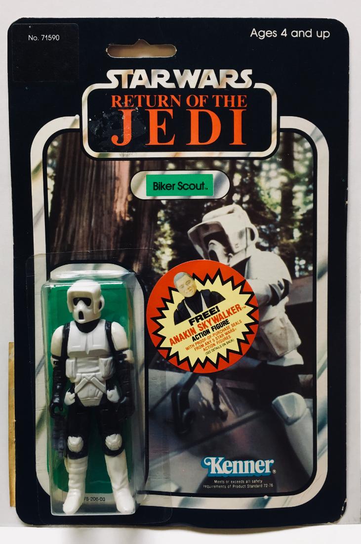 Kenner Star Wars Toys : Moc kenner star wars biker scout on back card