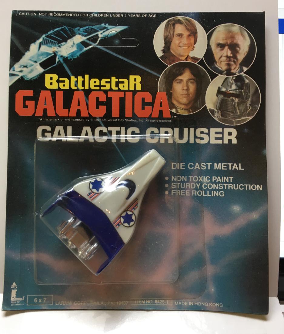 battlestar die cast blue galactic cruiser