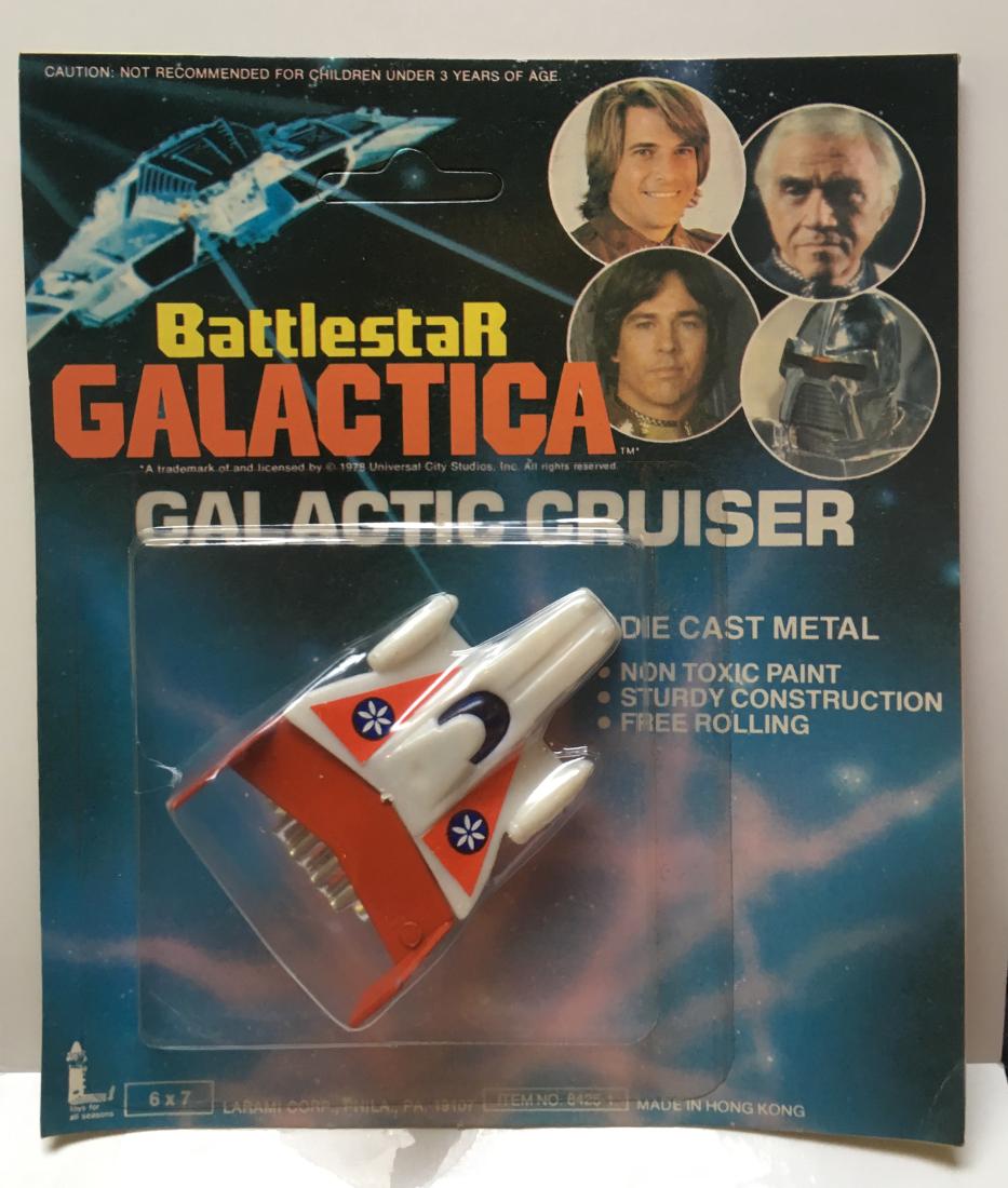 battlestar die cast red galactic cruiser