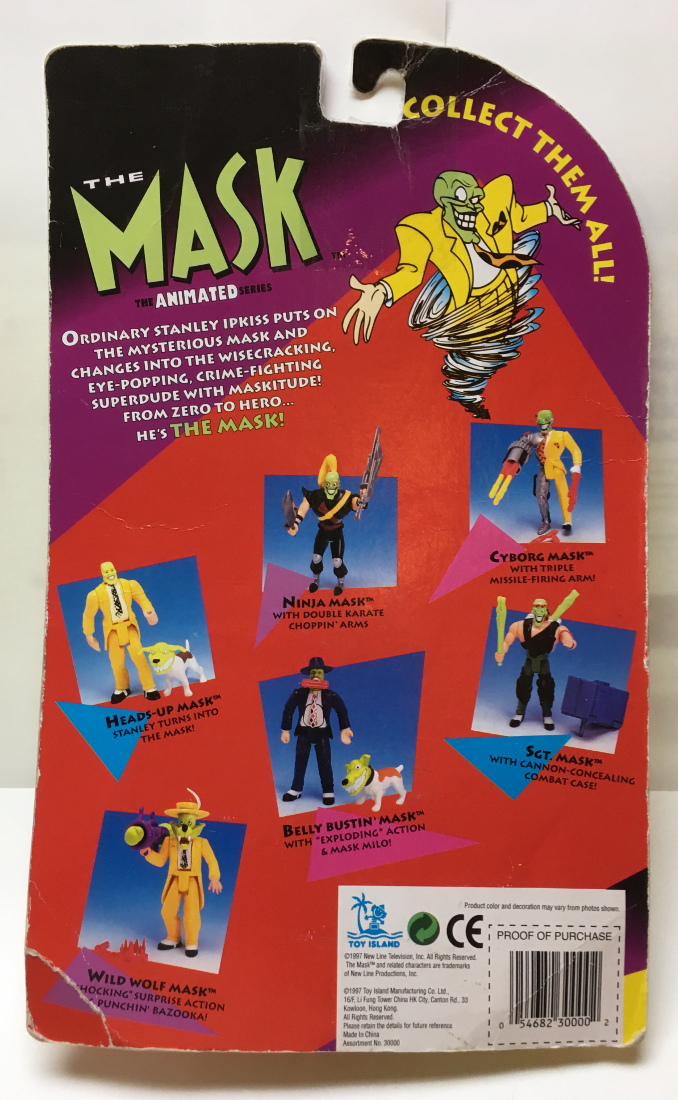 toy island the mask animated series heads up mask 2
