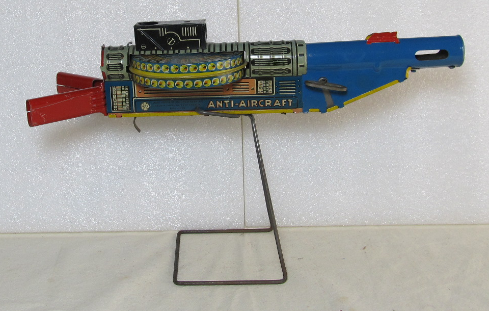 marx tin litho wind-up anti-aircraft gun 1