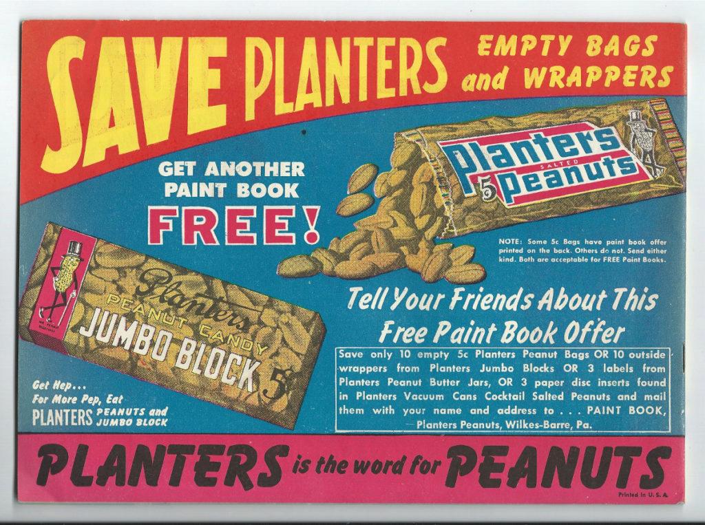 planters mr peanut paint book 2