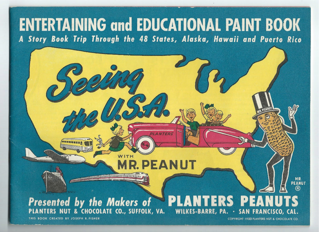 planters mr peanut seeing the paint book 1