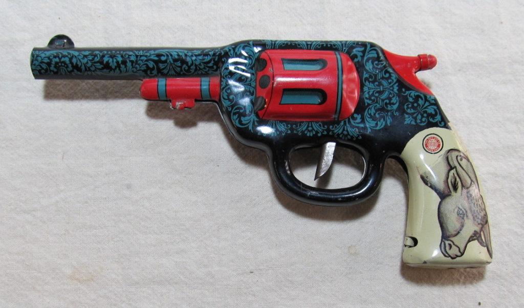 ohio art tin litho clicker gun 2
