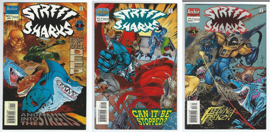 street sharks comic book mini-series 1