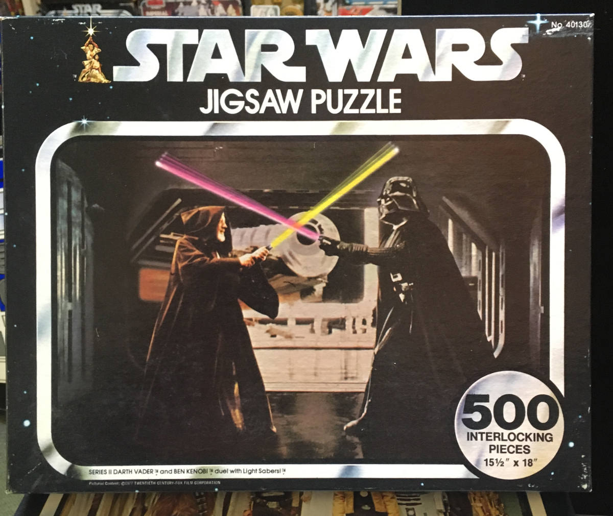 kenner star wars darth vader and ben kenobi duel with light sabers puzzle