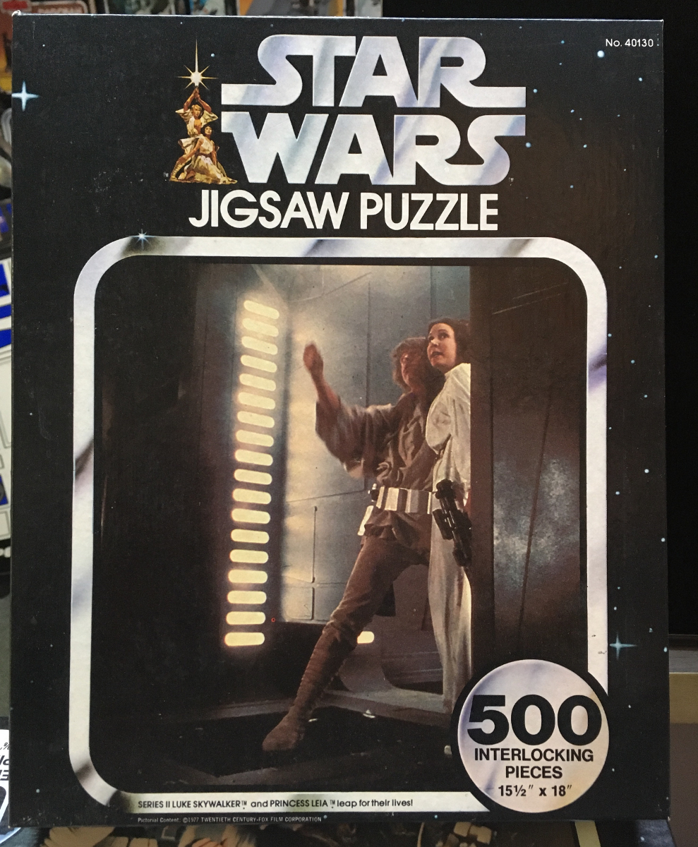 kenner star wars luke skywalker and princess lei leap for their lives puzzle