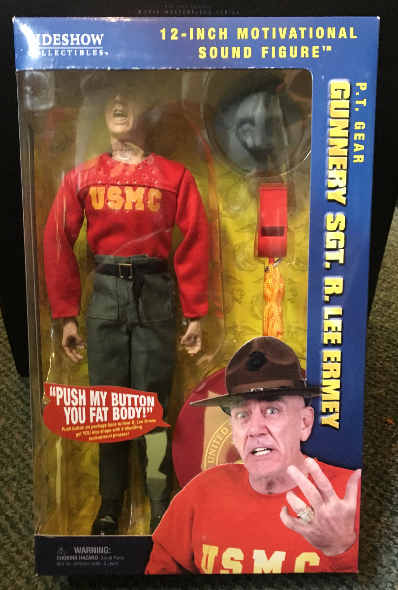 "pt gear gunnery sgt. r. lee ermey 12"" figure 1"