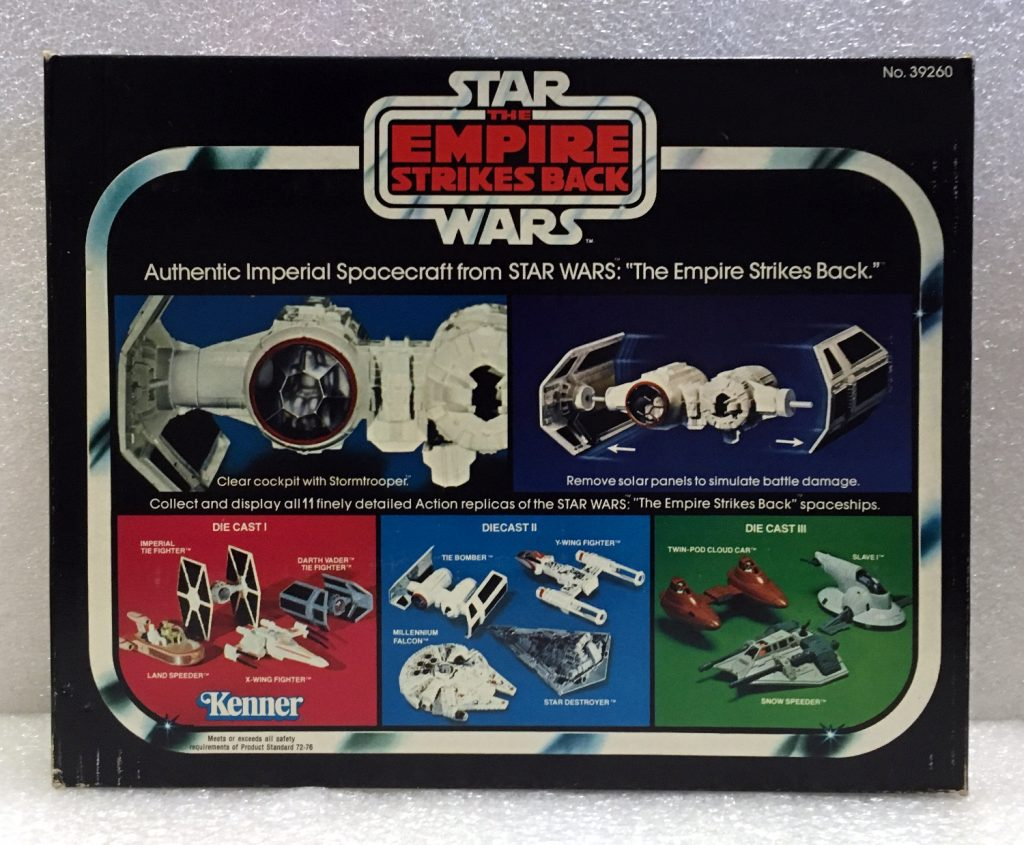 kenner star wars die cast tie bomber 2
