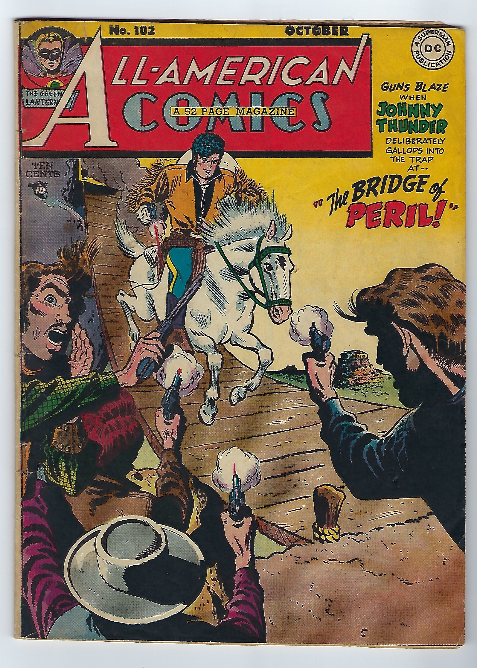 1948 DC All-American Comics #102: Scarce final issue, 6.0 (FN)