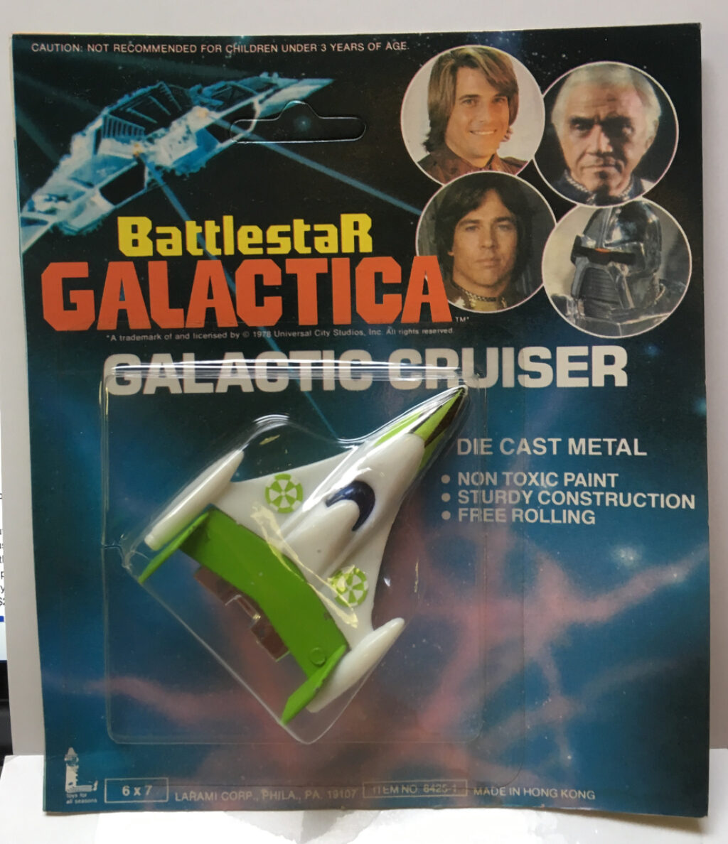 battlestar die cast green galactic cruiser
