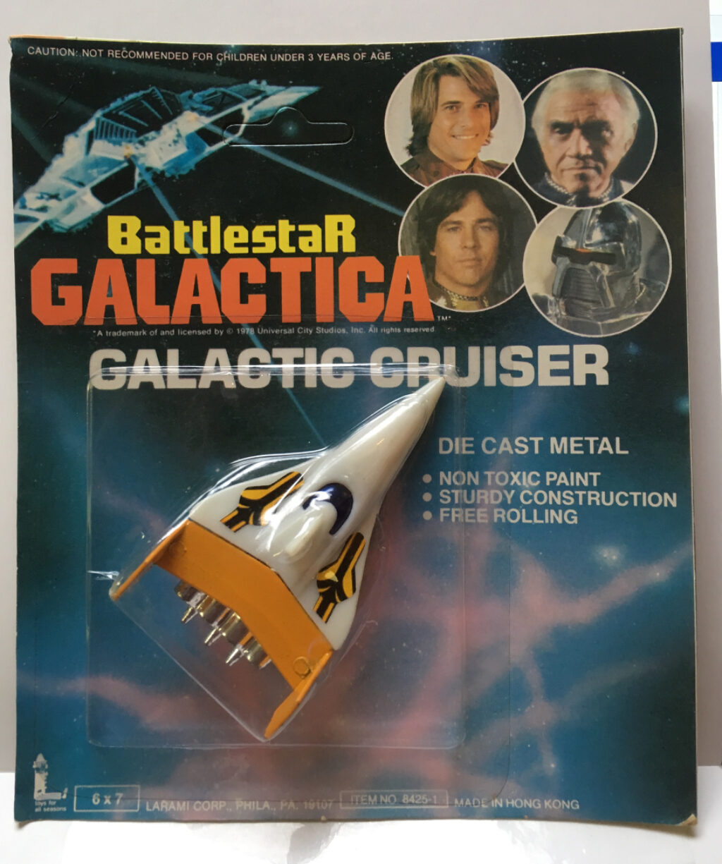 battlestar die cast yellow galactic cruiser
