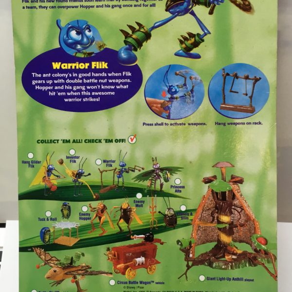 Disney Pixar A Bug S Life Warrior Flik Action Figure Moc The Toys Time Forgot