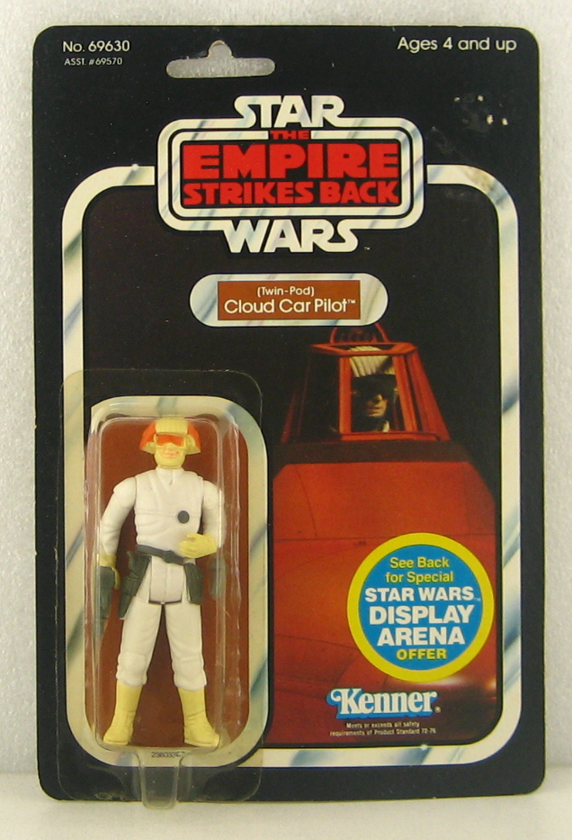 1981 MOC Kenner Star Wars ESB Cloud Car Pilot on 45-Back Card