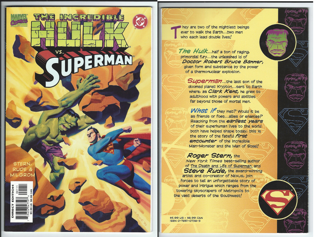 Marvel & DC Comics Incredible Hulk vs. Superman Graphic Novel