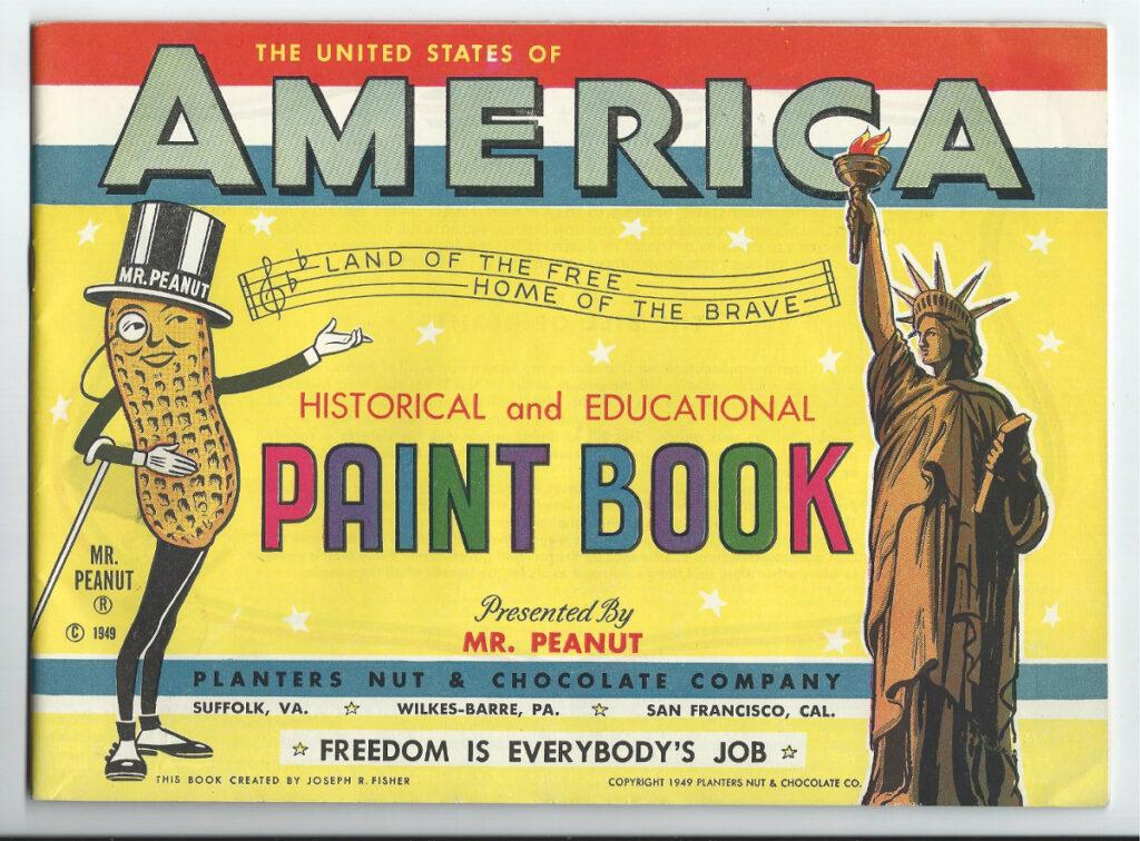 planters mr peanut paint book 1