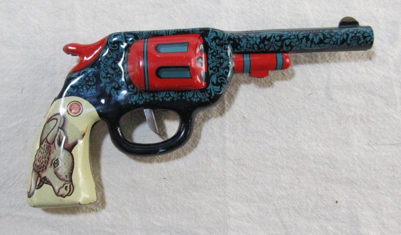 ohio art tin litho clicker gun 1