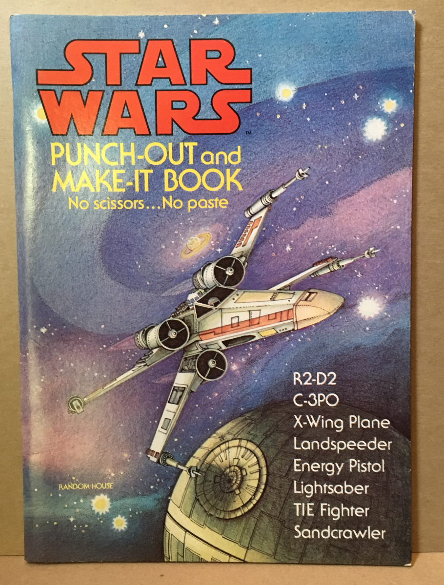 1978 Star Wars Punch-Out and Make-It Book - Complete & Unused
