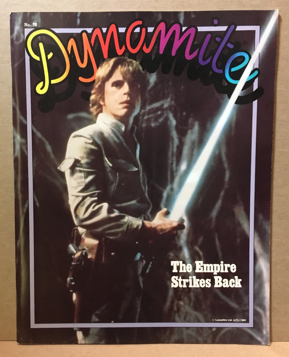 1980 Dynamite Magazine #76 - Star Wars Luke Skywalker cover - Complete
