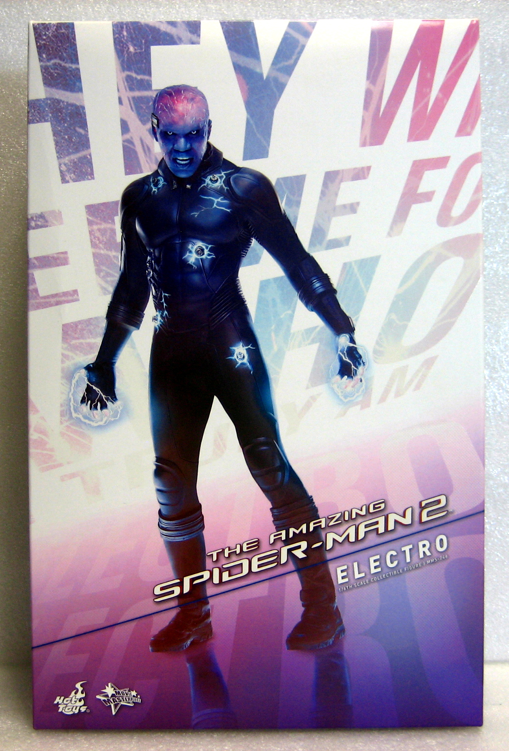 hot toys amazing spider-man 2 electro box front