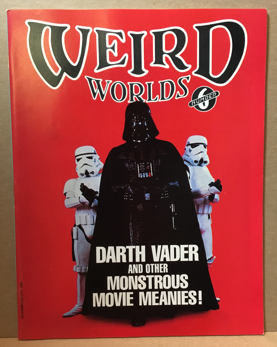 1980 Weird Worlds #6 - Darth Vader Cover