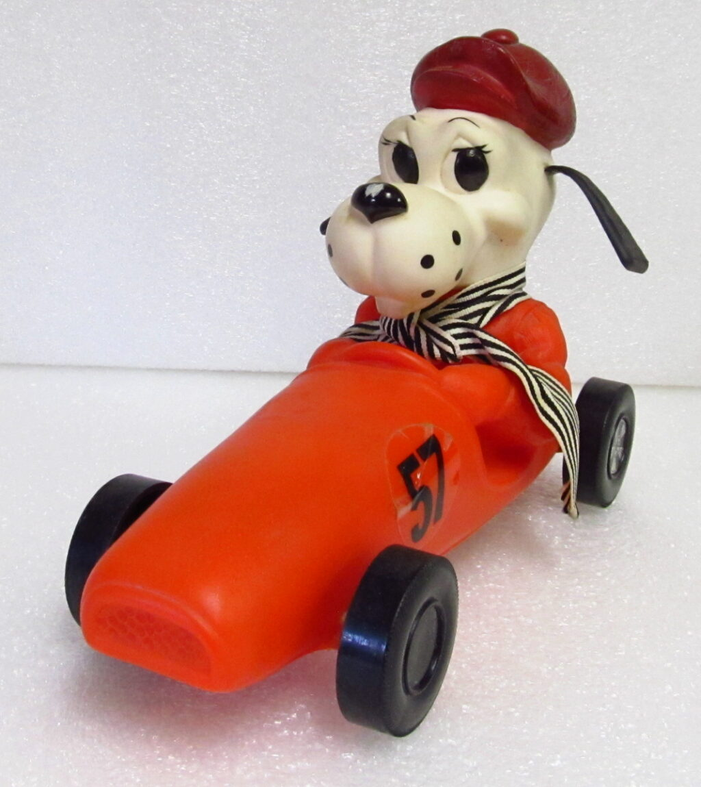 royalty industries race car dog bank 1