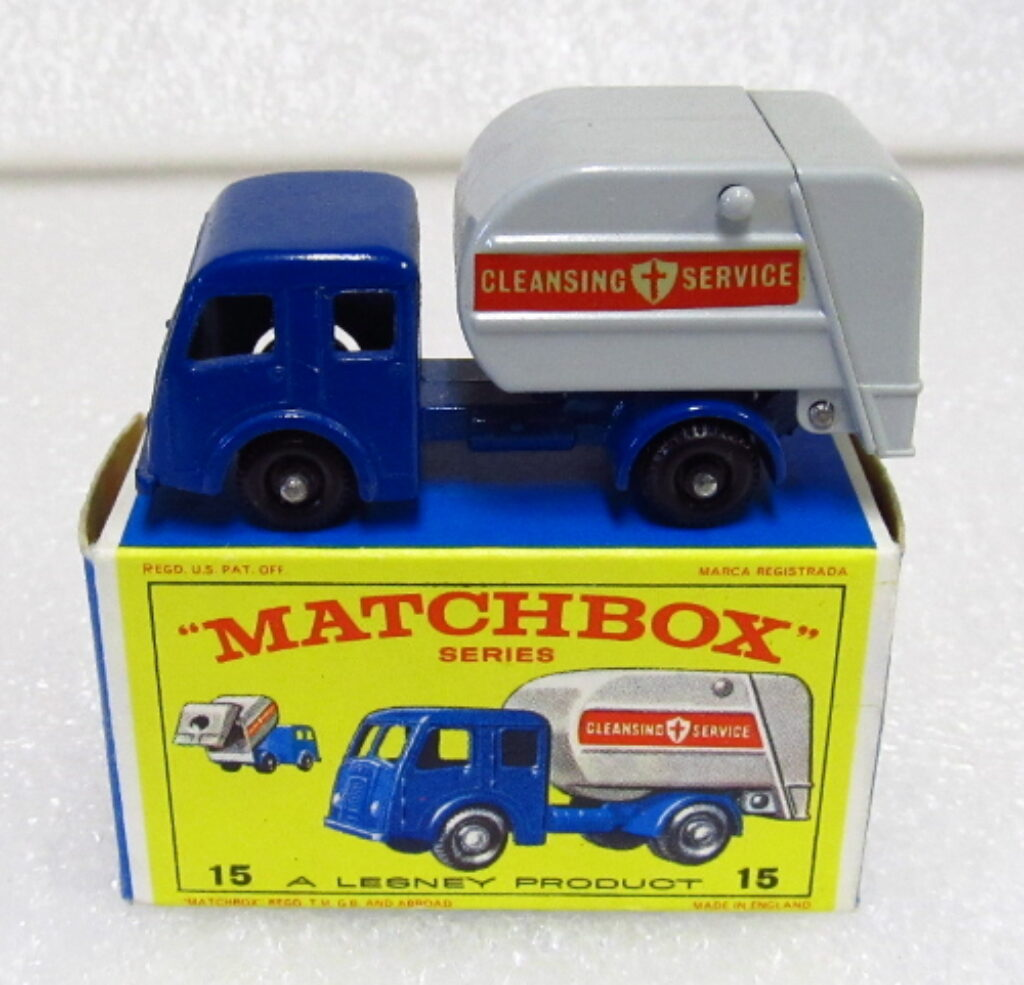 matchbox dennis refuse truck 1