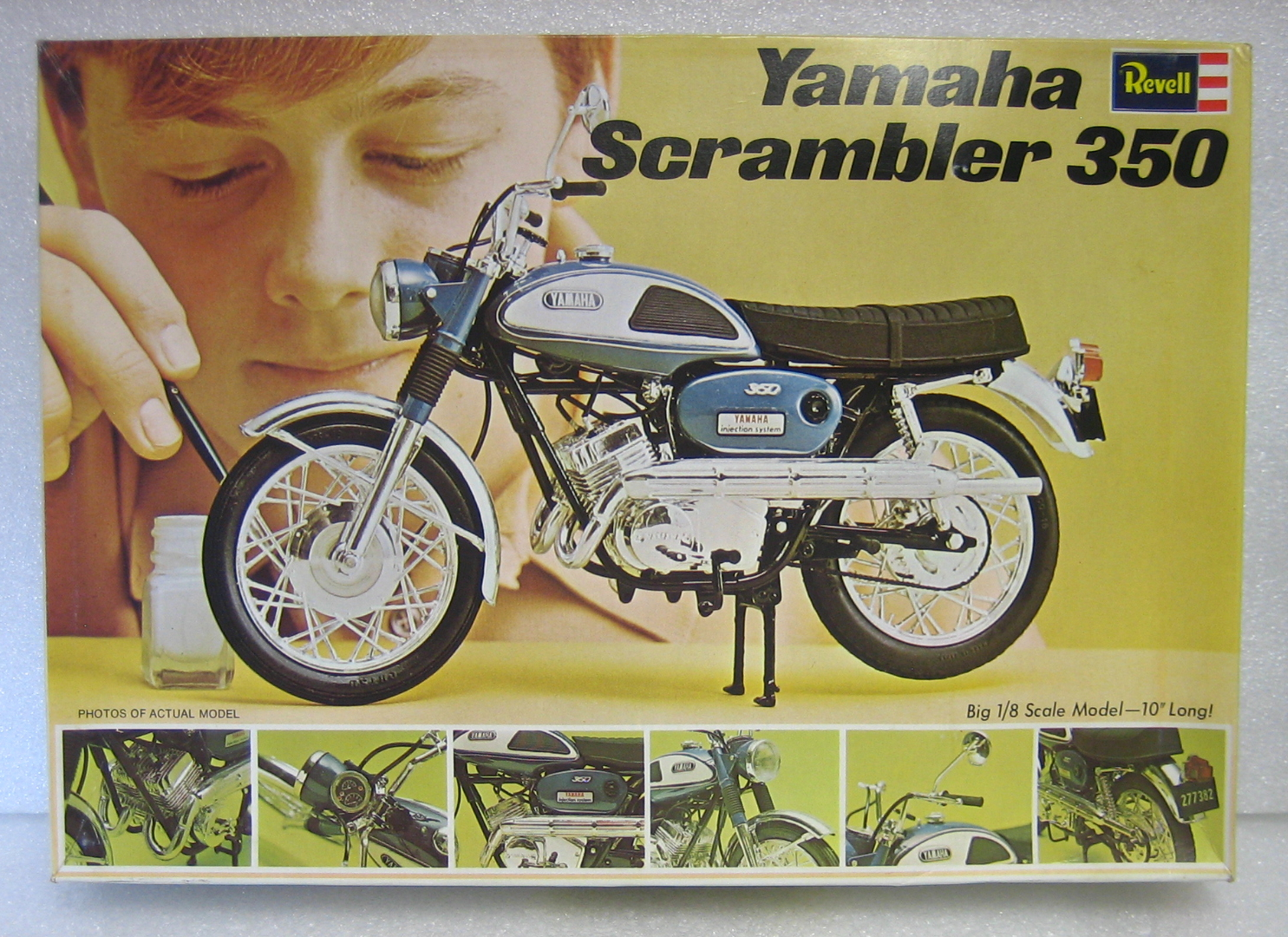 revell yamaha scrambler 350 model kit 1