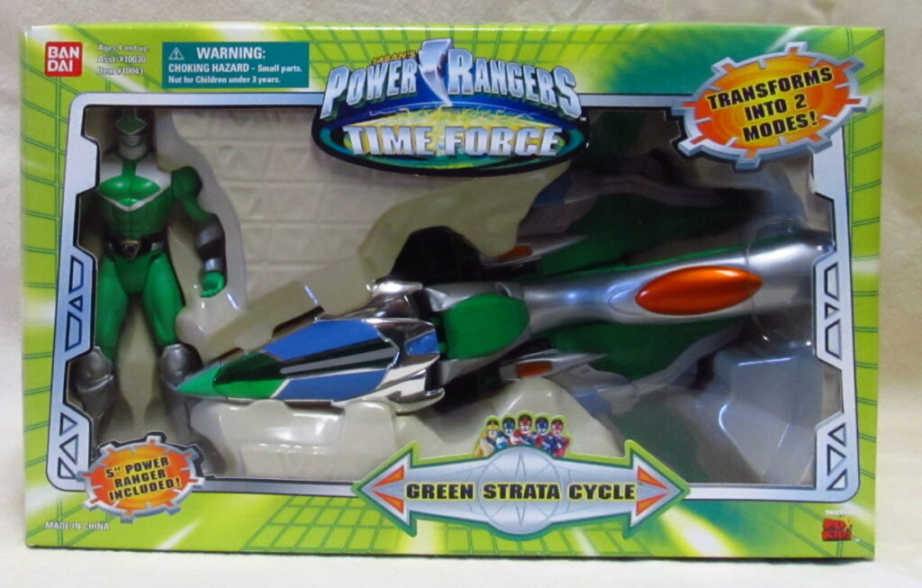bandai power rangers green strata cycle 1
