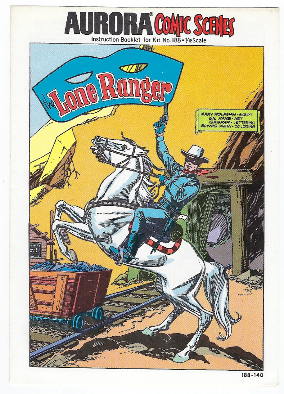 Aurora Comic Scenes Lone Ranger Model Kit Comic Book & Instructions Booklet 1