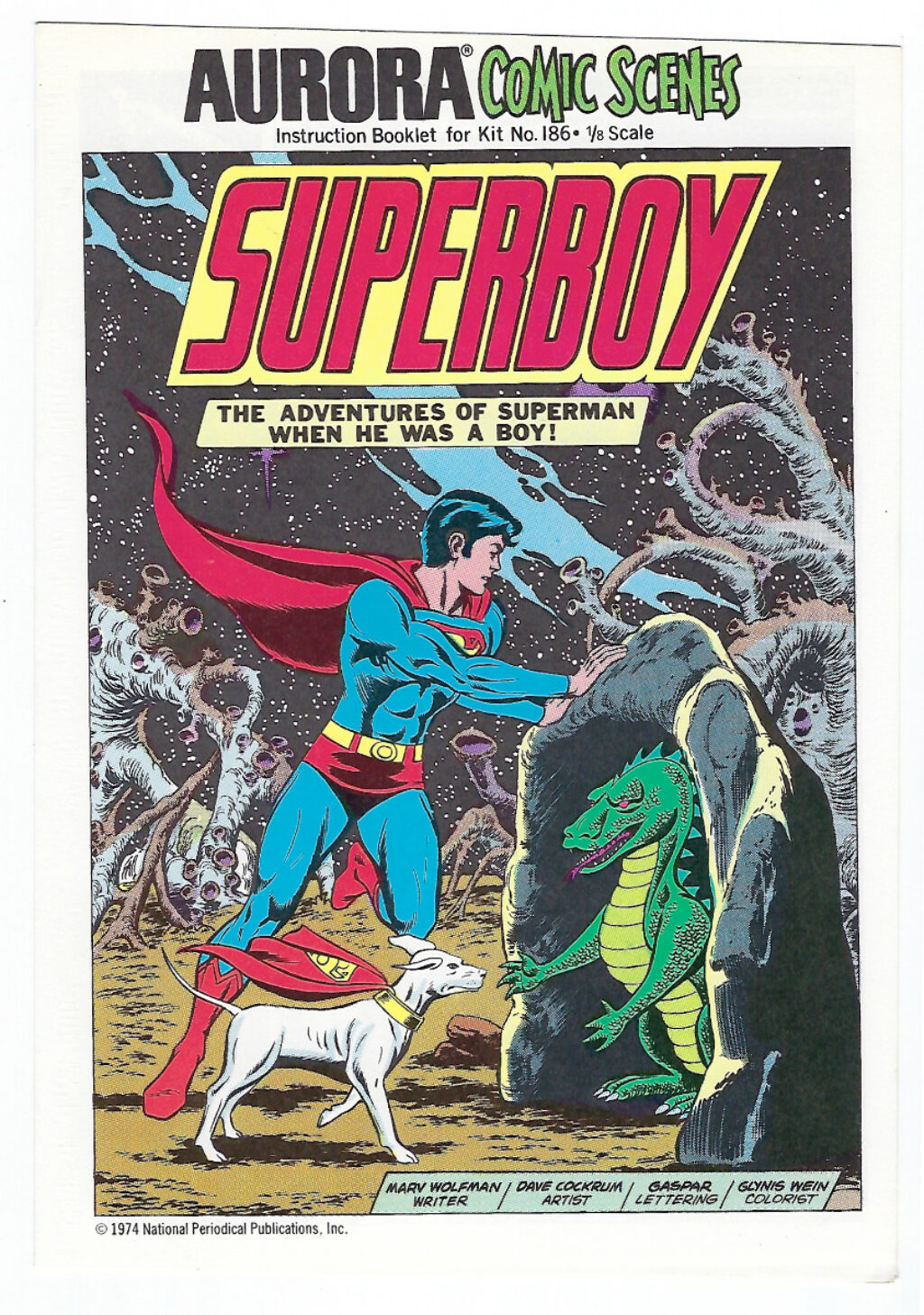 Aurora Comic Scenes Superboy Model Kit Comic Book & Instructions Booklet 1