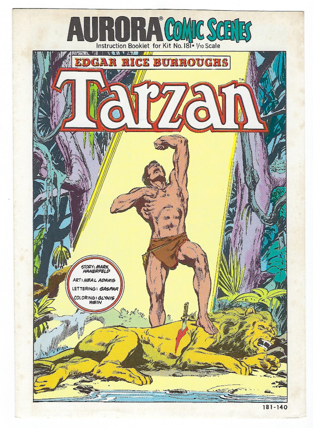 Aurora Comic Scenes Tarzan Model Kit Comic Book & Instructions Booklet 1