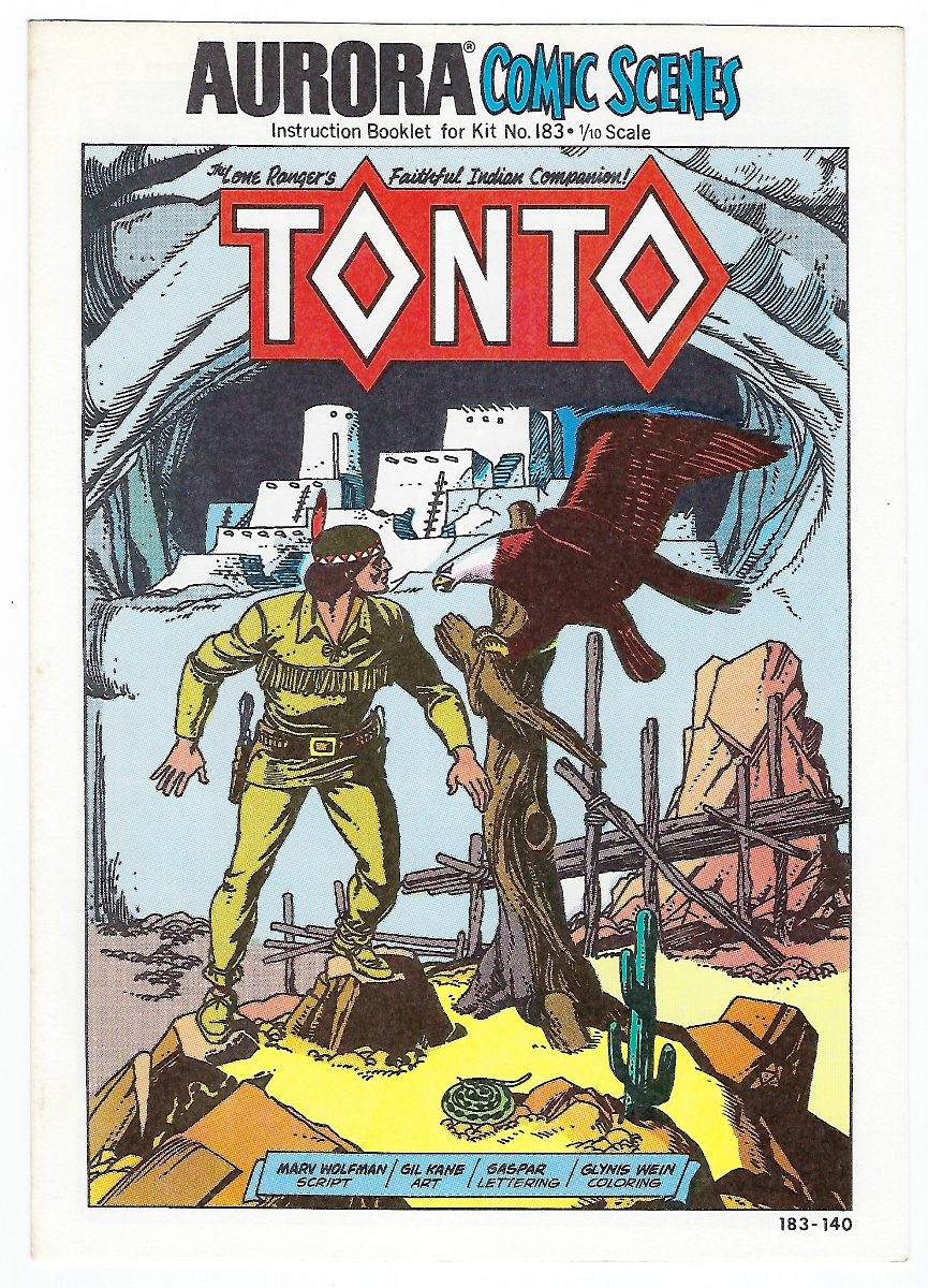 Aurora Comic Scenes Tonto Model Kit Comic Book & Instructions Booklet 1