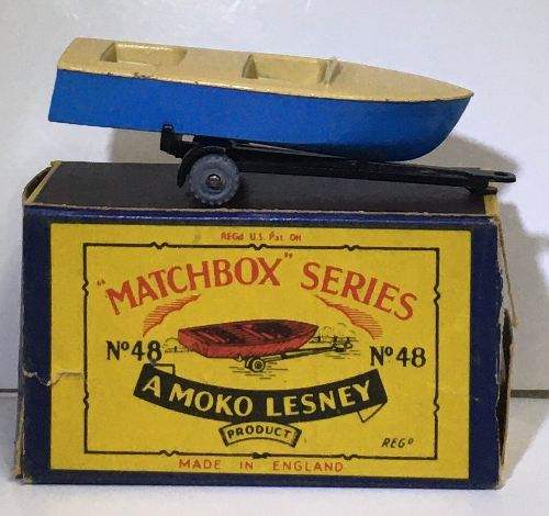 matchbox 48-a meteor sports boat on trailer 1