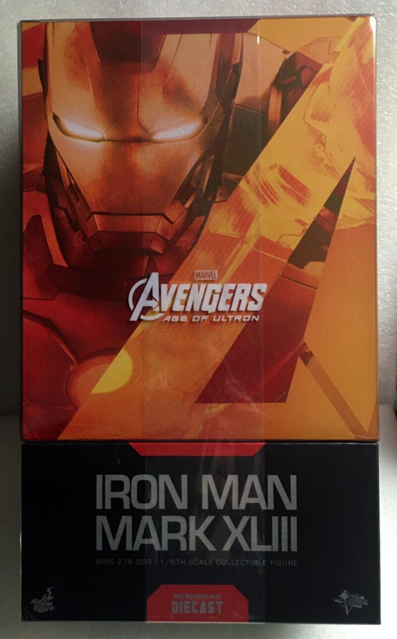 hot toys iron man mark xliii 1:6 scale figure - original d09 issue 1
