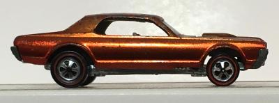 mattel hot wheel red line orange custom cougar 1