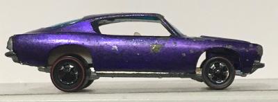 mattel hot wheels red line purple custom barracuda 1