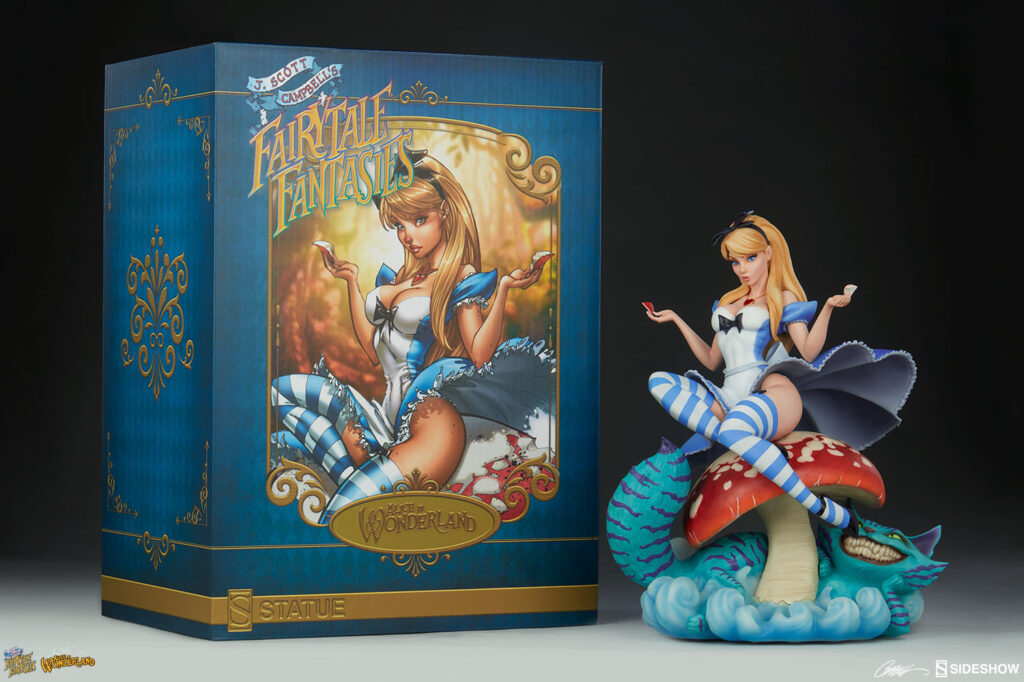 sideshow collectibles j scott campbell alice in wonderland statue 1