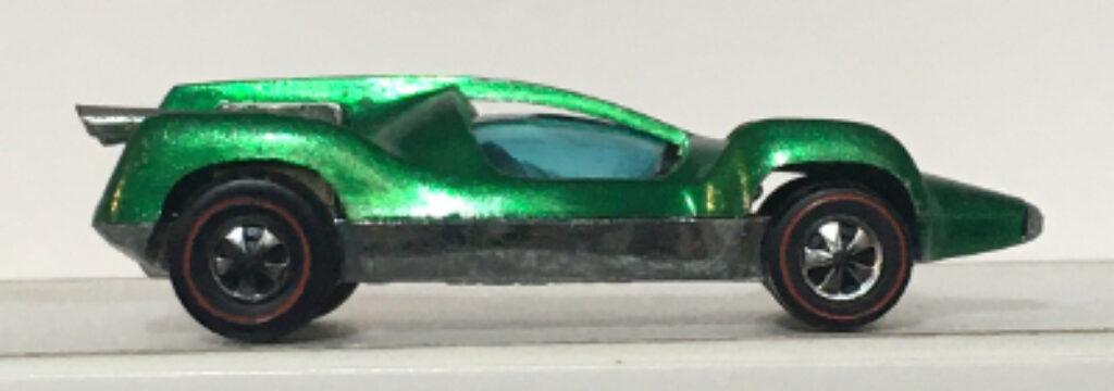 mattel hot wheels red line green mantis 1