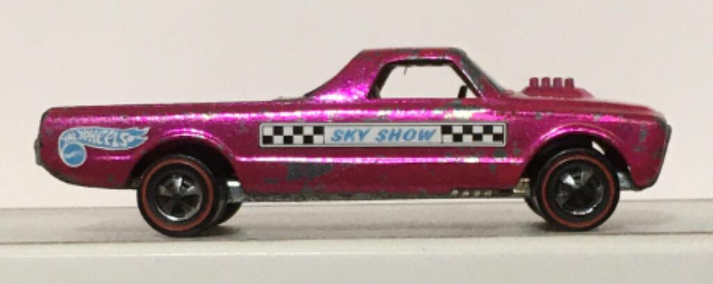 mattel hot wheels hot pink aero launcher skyshow custom fleetside 1