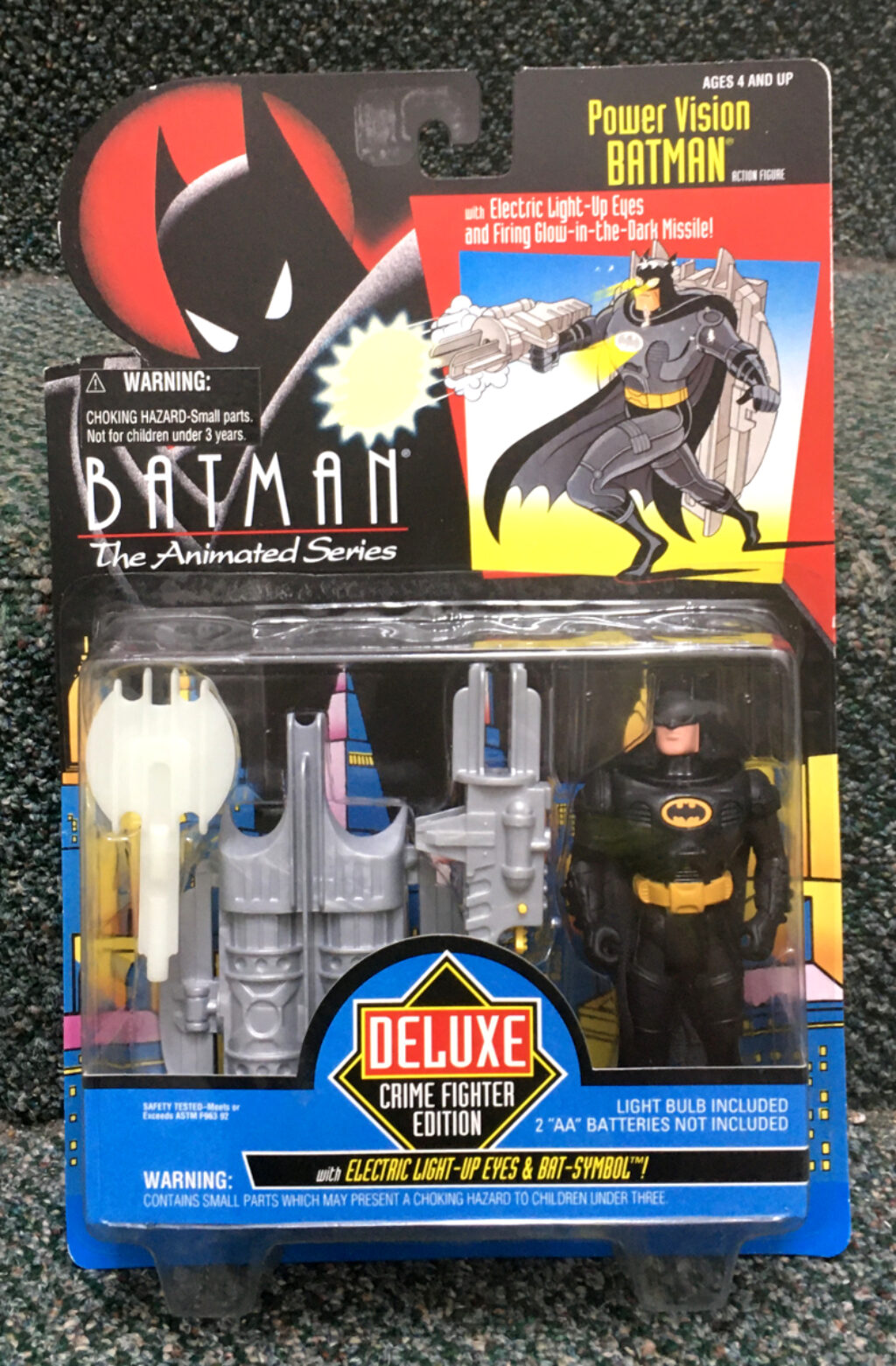kenner batman the animated series power vision batman figure 1
