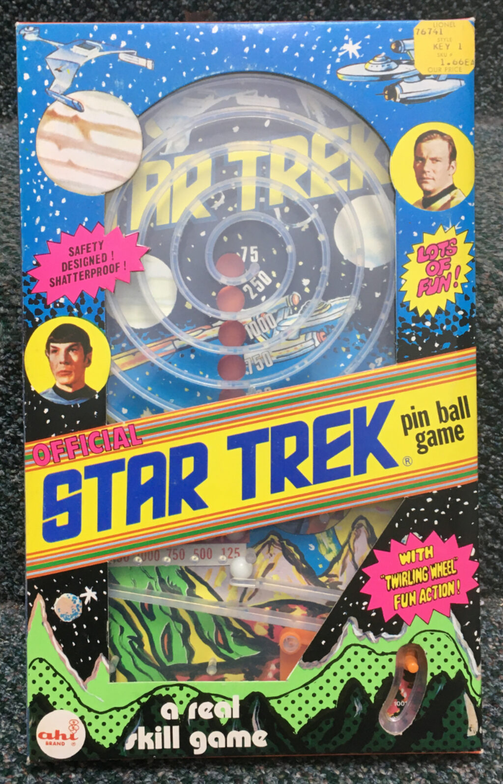 1977 ahi official star trek pin ball game 1