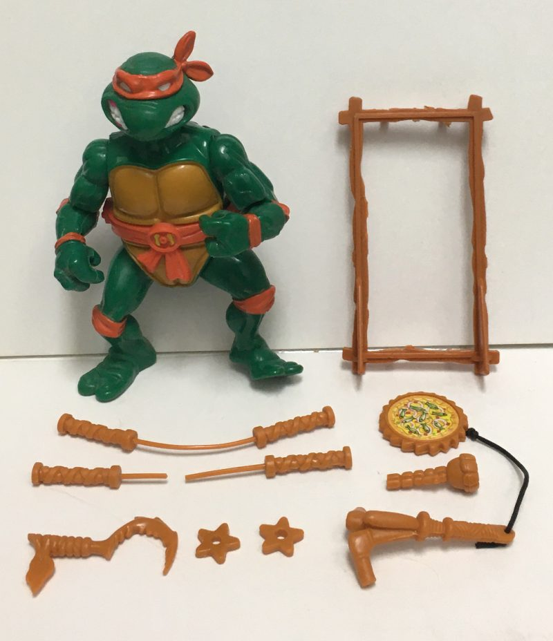 playmates tmnt michaelangelo with storage shell 1